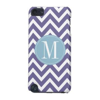 Light Blue and Purple Chevron Custom Monogram iPod Touch 5G Case