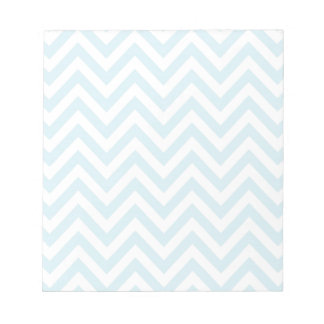 Light Blue and White Chevron Stripe Pattern Notepad