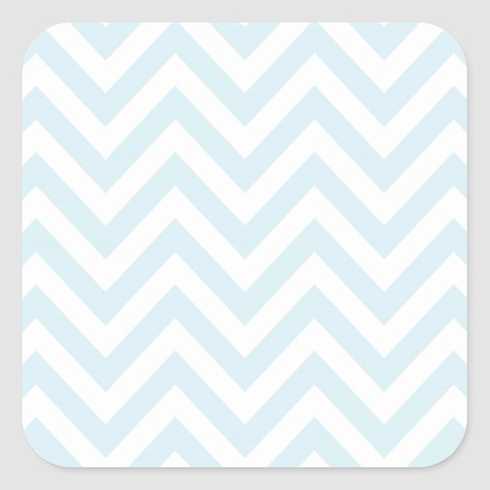 Light Blue and White Chevron Stripe Pattern Square