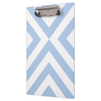 Light Blue and White Chevrons Clipboard