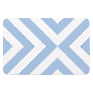 Light Blue and White Chevrons Rectangular Photo Magnet