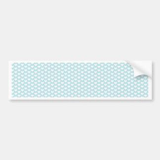 Light Blue and White Hearts Bumper Sticker