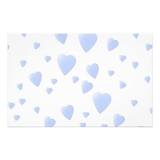 Light Blue and White Love Hearts Pattern. 14 Cm X 21.5 Cm Flyer