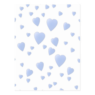 Light Blue and White Love Hearts Pattern. Postcard