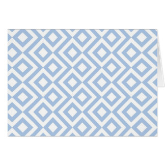 Light Blue and White Meander Card