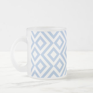 Light Blue and White Meander Coffee Mugs