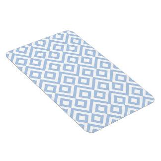 Light Blue and White Meander Rectangular Photo Magnet
