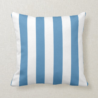 Light Blue and White Modern Striped Throw Pillow