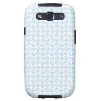 Light Blue and White Retro Circles Galaxy S3 Cover