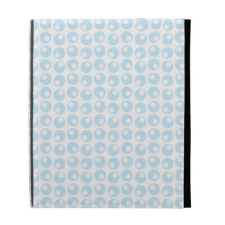 Light Blue and White Retro Circles iPad Folio Cases