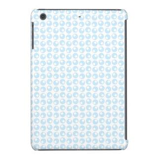 Light Blue and White Retro Circles iPad Mini Retina Cases