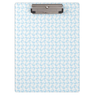 Light Blue and White Retro Circles Clipboards