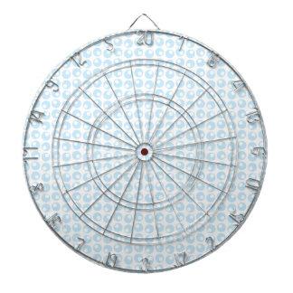 Light Blue and White Retro Circles Dart Boards