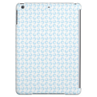 Light Blue and White Retro Circles iPad Air Cases