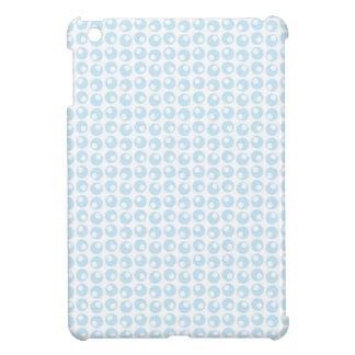 Light Blue and White Retro Circles Cover For The iPad Mini