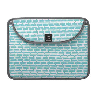 Light Blue and White Retro Stripes MacBook Pro Sleeve