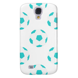 Light Blue and White Soccer Ball Pattern Galaxy S4 Case