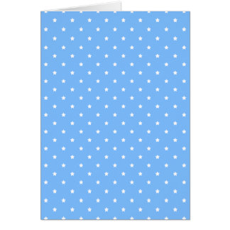 Light Blue and White. Star Pattern. Greeting Card