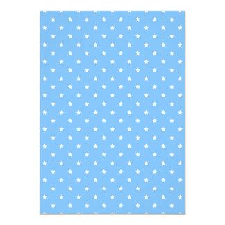 Light Blue and White. Star Pattern. Custom Invites