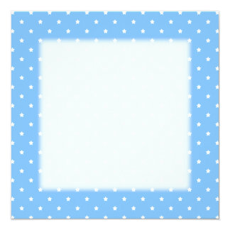 Light Blue and White. Star Pattern. Invite