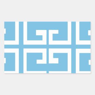 Light Blue and White Tile Rectangular Sticker