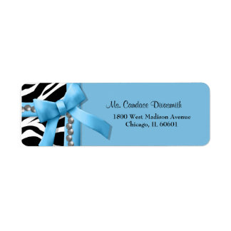 Light Blue And White Zebra Stripe With Silver Gems