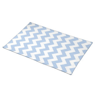 Light Blue and White Zigzag Placemat