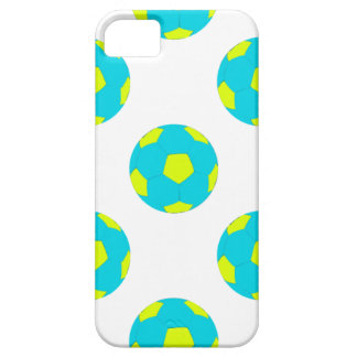 Light Blue and Yellow Soccer Ball Pattern iPhone 5 Case
