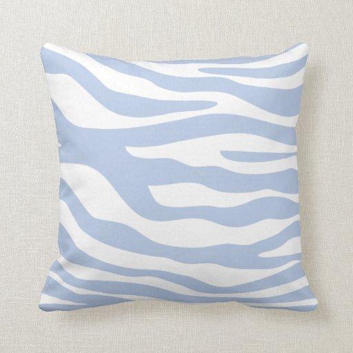 Light Blue Animal Print Pattern Pillow