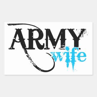 Light Blue Army Wife Sticker