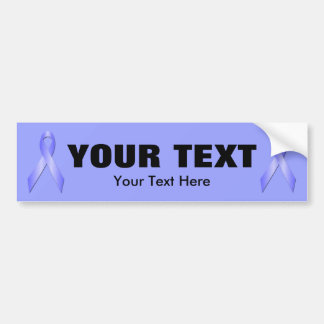 Light Blue Awareness Ribbon Bumper Sticker 3