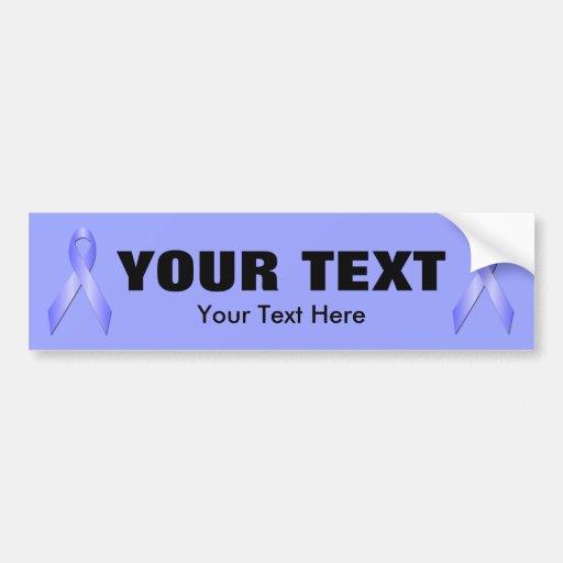 Light Blue Awareness Ribbon Bumper Sticker 3