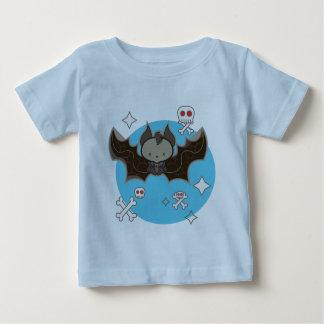 Light blue baby fine jersey tshirt with bat