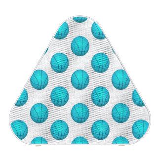 Light Blue Basketball Pattern Bluetooth Speaker