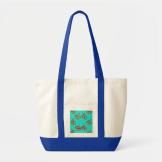 Light Blue Bicycle Beach Tote Bag