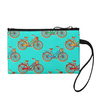 Light Blue Bicycle Coin Clutch Purse