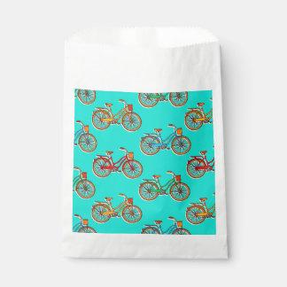 Light Blue Bicycle Favor Bag