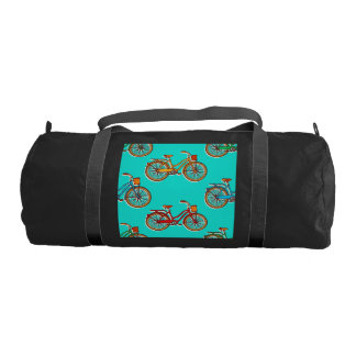 Light Blue Bicycle Gym Bag