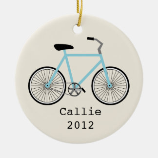 Light Blue Bicycle Personalized Ornament