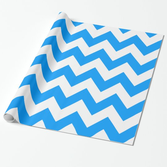 Light Blue Bold Chevron Wrapping Paper