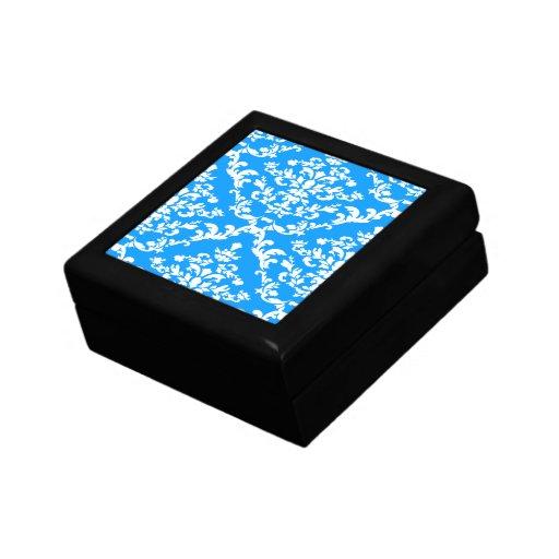 Light Blue Bold Damask @ Emporiomoffa Jewelry Box