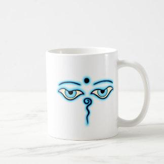 Light Blue Buddha Eyes.png Basic White Mug