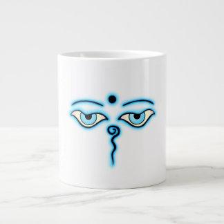 Light Blue Buddha Eyes.png Jumbo Mug