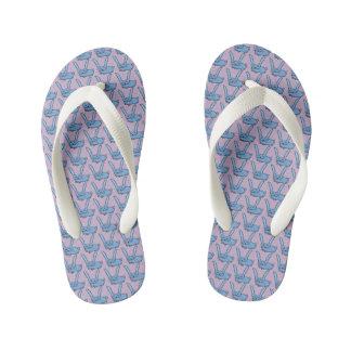 Light blue bunny kid's flip flops