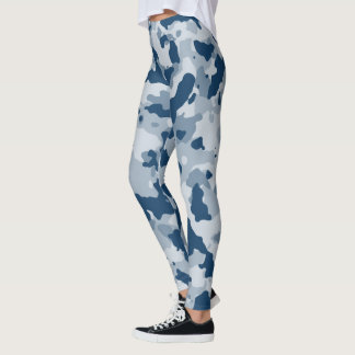 Light Blue Camouflage Leggings