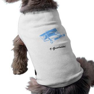 Light Blue Cap Diploma Doggie T-shirt