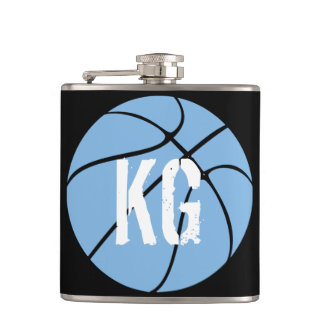 Light Blue (Carolina Blue) Basketball Hip Flask