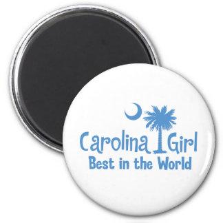 Light Blue Carolina Girl Best in the World Magnet