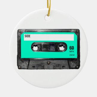 Light Blue Cassette Christmas Tree Ornaments
