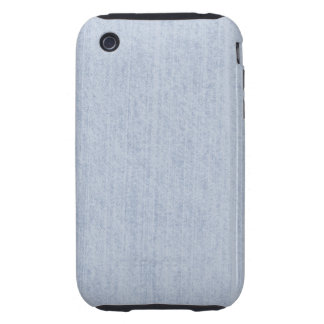 Light Blue Chenille Fabric Texture iPhone 3 Tough Case